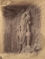 Rock sculpture of Vishnu as Varaha rescuing Bhudevi, Cave Temple 5, Udayagiri, Madhya Pradesh